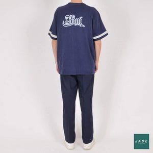 Navy Vintage Trousers | Bukser | Vintage | Bredt fit bukser Navy pants trousers