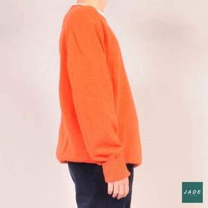 Orange Knit Jumper | Overdele | Signal | Jumper Knit Orange Oversized sweater