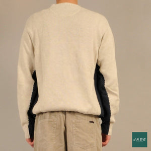 Signal Sweatshirt | Overdele | Signal | Hvid Knit navy blue Spellout sweater