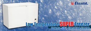 Low Temperature Freezer Banner