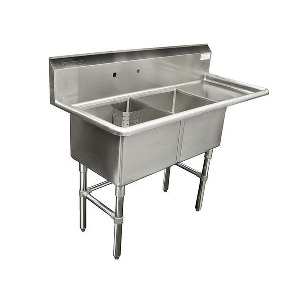 "Thorinox TDS-2424-R24 Double sink with right drainboard (24"")"