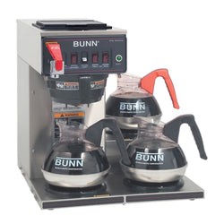 CWTF-DV-3L Dual Volt (3 Lower Warmers) 12 Cup Automatic Coffee Brewer with 3 Warmers  12950.6101