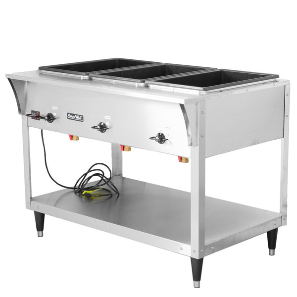 Vollrath 38203 ServeWell SL Electric Three Pan Hot Food Table 120V