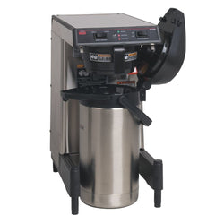 WAVE15-S-APS Airpot System, Plastic Funnel SmartWAVE® Low Profile Silver Thermal Server Coffee Brewer 39900.6006