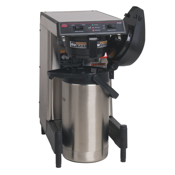 WAVE-S-APS Airpot System, Plastic Funnel SmartWAVE® Low Profile Silver Thermal Server Coffee Brewer 39900.6009