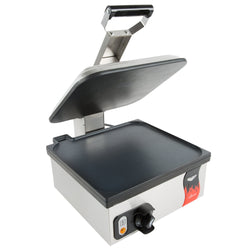Vollrath 40792 Cayenne Single Panini Sandwich Press - Smooth Non Stick Plates - 13 5/16