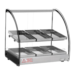 CELCOOK CHD2-ACL ACL Line Heated Display Case 2 Shelf