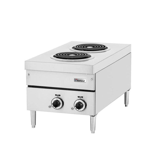 "Garland E24-12H 24"" Two Burner Heavy-Duty Electric Countertop Hot Plate"