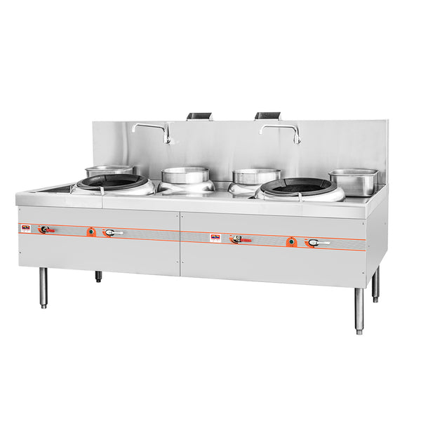 Flame-Mate ECR-2002C5 Environmental Cooking Range Compact Style - 2 Burners, 2 Rear Pots