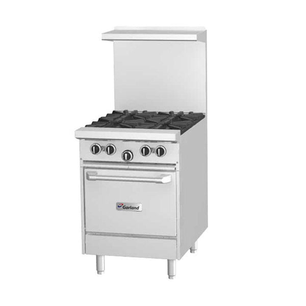 "G24-4L Natural Gas 4 Burner 24"" Range with Space Saver Oven"