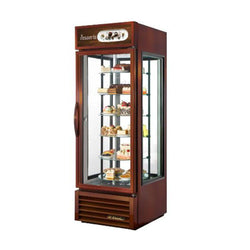 True G4SM-23RGS~TSL01 Glass Four Sided Merchandising Refrigerator with Rotating Glass Shelves