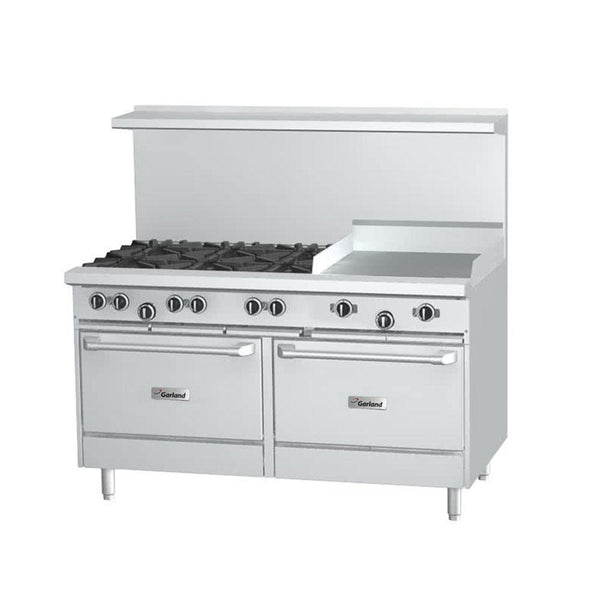 "G60-6G24RR Natural Gas 6 Burner 60"" Range with 24"" Griddle and 2 Standard Ovens"