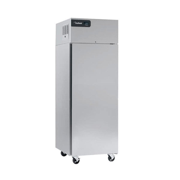 "Delfield GBF1P-S Coolscapes 27"" Top-Mount One Section Solid Door Stainless Steel Reach-In Freezer"