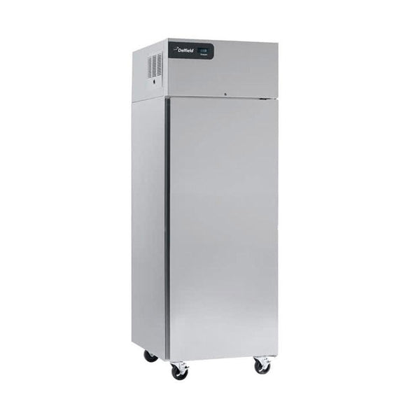 "Delfield GCR1P-S Coolscapes 27"" Top-Mount Solid Door Reach-In Refrigerator with Aluminum Interior"