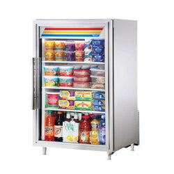 True GDM-07-S-HC~TSL01 Swing Door Counter-Top Stainless Steel Merchandising Refrigerator