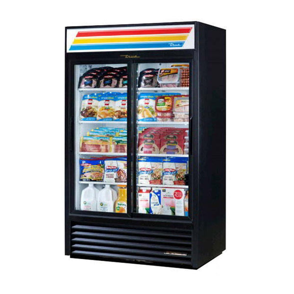 "True GDM-41-HC-LD 48"" 2 Sliding Door Merchandiser With LED Lighting"