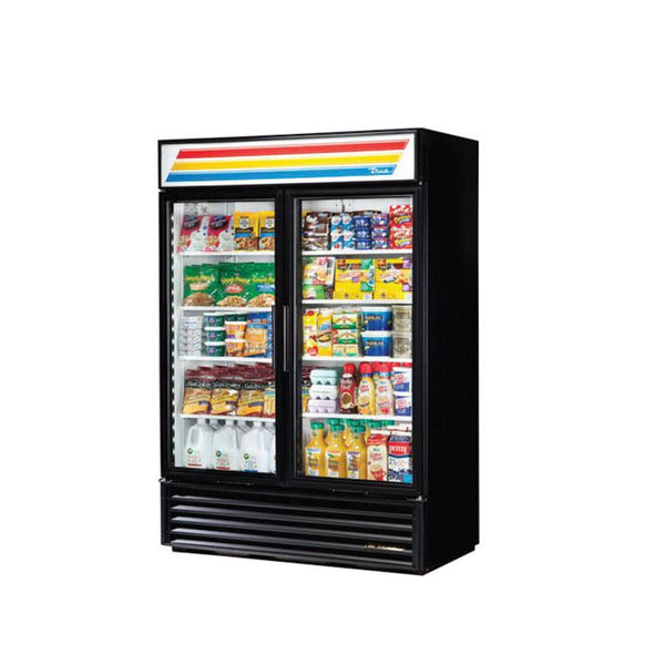 TRUE GDM-49-LD Glass Door Cooler Merchandiser (2 Door)