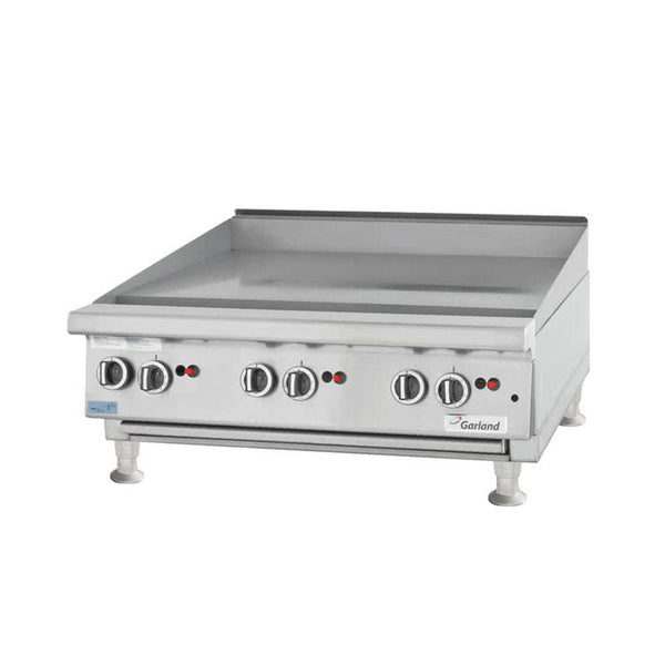 "Garland GTGG72-G72M Natural Gas 72"" Countertop Griddle with Manual Controls"