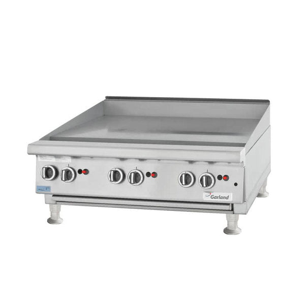 "Garland GTGG72-GT72M Natural Gas / Liquid Propane 72"" Countertop Griddle with Thermostatic Controls"