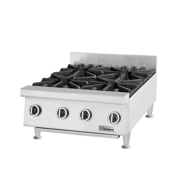 "Garland GTOG24-4 Natural Gas / Liquid Propane 4 Burner 24"" Countertop Range - 120,000 BTU"