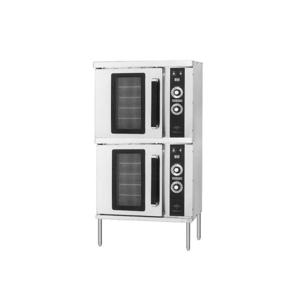Hobart HGC202 Liquid Propane Double Deck Half Size Convection Oven - 50,000 BTU