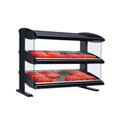 Hatco HXMS-XXD Heated LED Merchandiser | Dual Slant Shelf Display