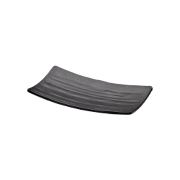 "Elite Global Solutions JW5409 ZEN RECTANGULAR WAVE TRAY Black, 8 5/8"" X 4 3/4"" X 3/4"" H."
