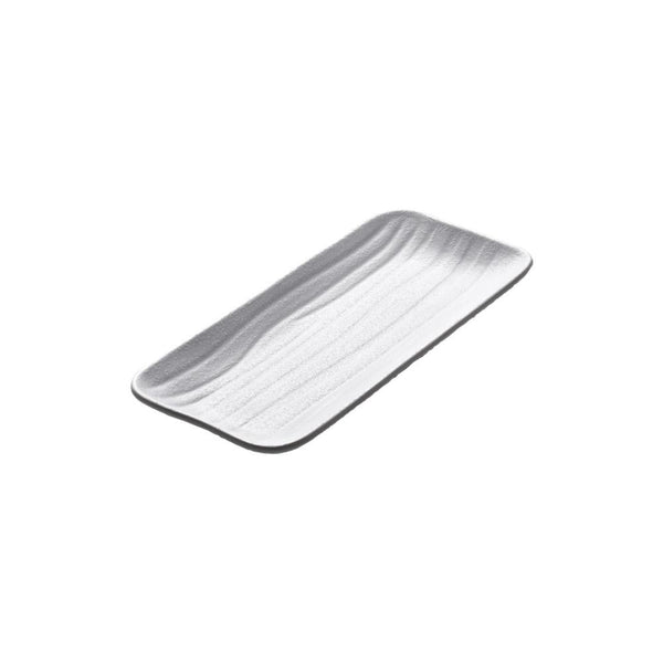 "Elite Global Solutions JW5411 Zen Rectangular Wave Tray White 11"" x 4 5/8"" x 1 1/8"" h."