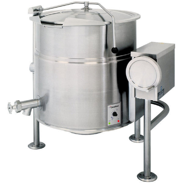 Garland Cleveland KEL100T 100 Gallon Tilting 2/3 Steam Jacketed Electric Kettle - 208/240V