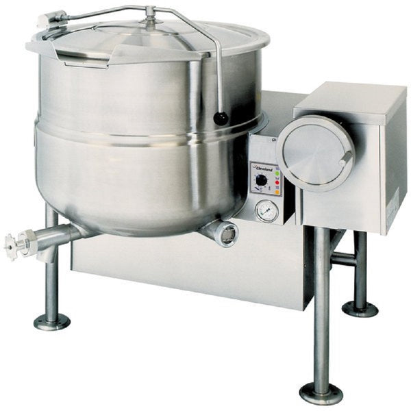 Garlend Cleveland KGL-40-T Natural Gas 40 Gallon Tilting 2/3 Steam Jacketed Kettle