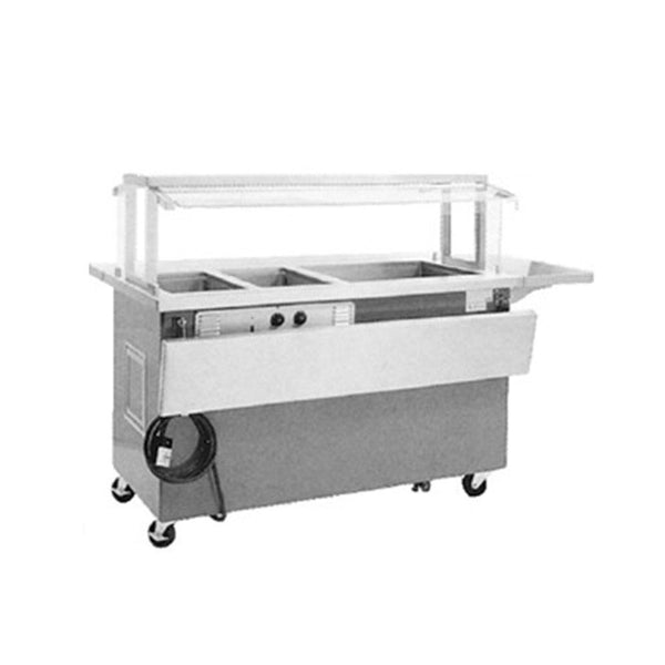 Delfield Mobile Hot and Cold Combination Counters KHC-NU Shelleyglas