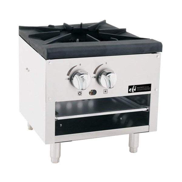 "EFI RCTSPL-18-1P 18"" 1 Burner Low Profile Stock Pot Ranges Propane"