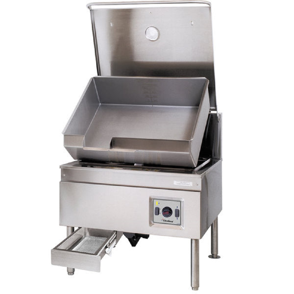 Garland Cleveland SEL-40-TR 40 Gallon DuraPan Electric Open Base Tilt Skillet - 208V, 1 Phase, 18 kW