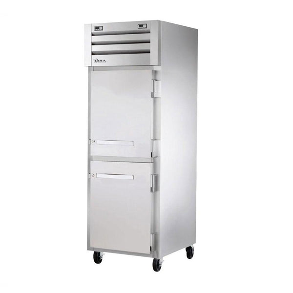 True STA1DT-2HS-HC Reach-In Solid Half Swing Door Dual Temperature Refrigerator/Freezer