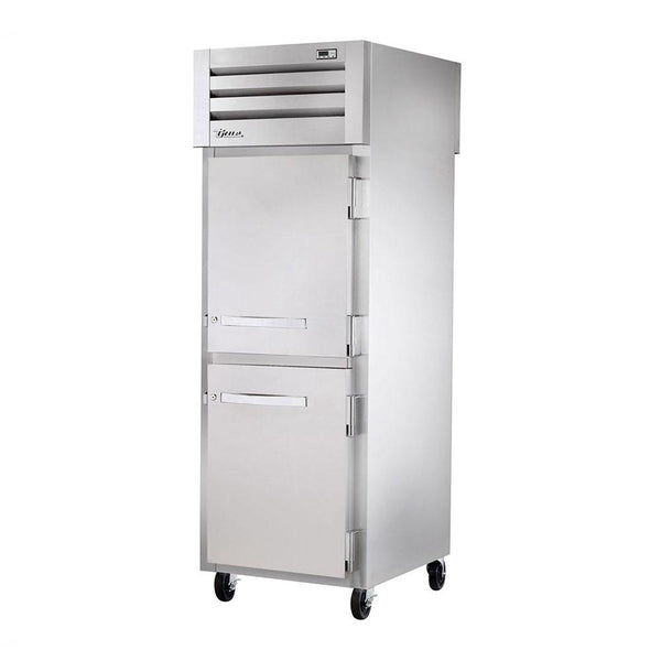 True STA1FPT-2HS-2HS Pass-Thru Solid Half Front / Solid Half Rear Swing Doors Freezer