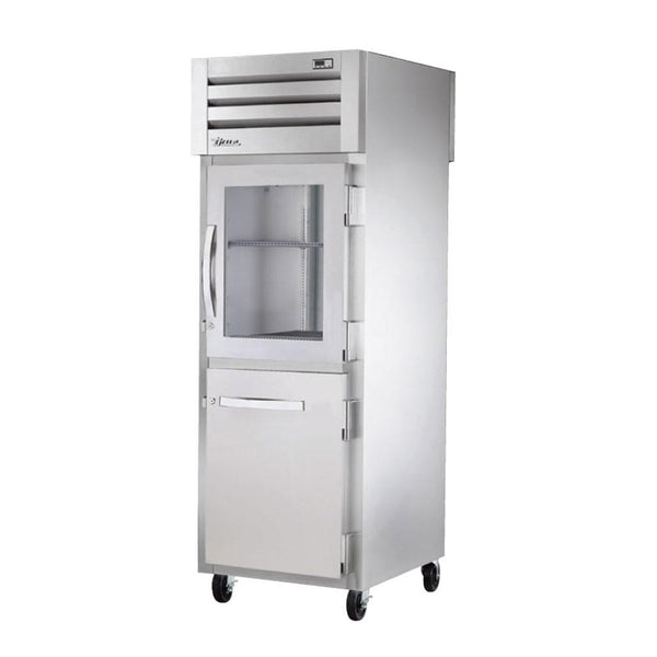 True STA1RPT-1HG/1HS-1S-HC Pass-Thru Combination Half Front / Solid Rear Swing Doors Refrigerator