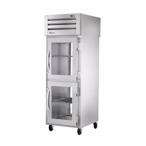 True STA1RPT-2HG-1G-HC Spec Series Pass-Thru Half Glass Front / Glass Rear Swing Door Refrigerator