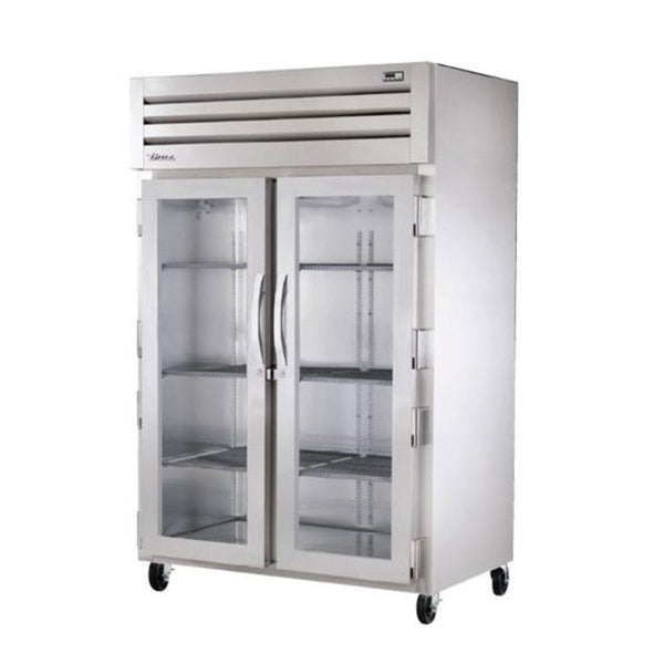 "True STA2H-2G 52"" Reach-In Glass Swing Door Heating and Holding Cabinet - 3000W"