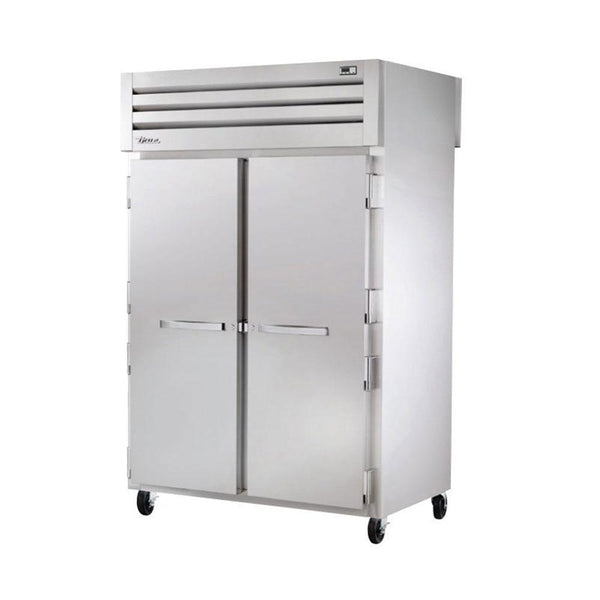 "True STA2HPT-2S-2S 52"" Pass-Thru Solid Front / Solid Rear Swing Door Heated Cabinet - 3000W"