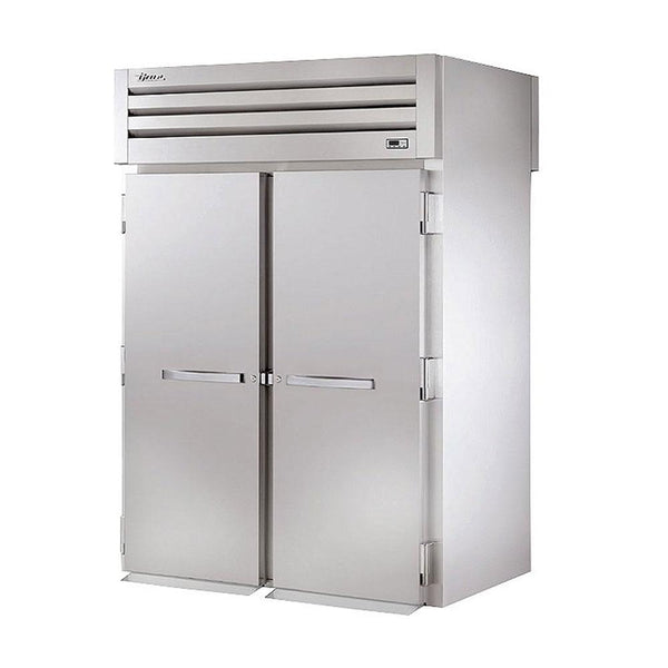 "True STA2HRT-2S-2S 68"" Two-Section Roll-Thru Solid Swing Door Heated Cabinet - 4000W"