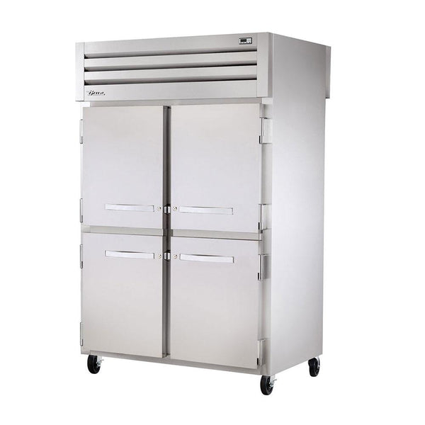 "True STA2RPT-4HS-2S-HC 52"" Pass Thru Solid Half Front / Solid Rear Swing Door Refrigerator"