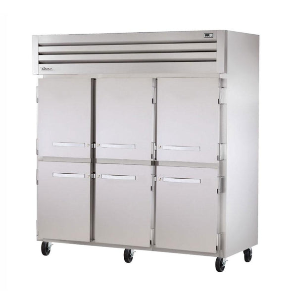 True STA3F-6HS Three Section Reach-In Solid Swing Door Freezer