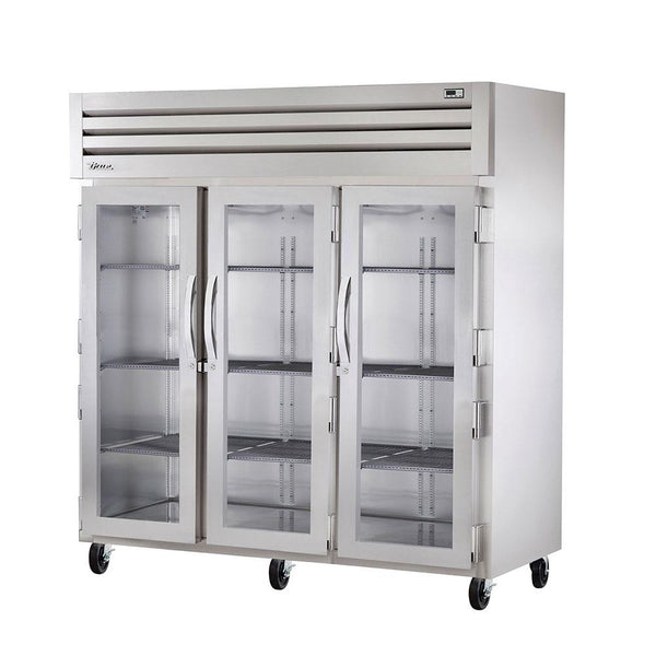 True STA3R-3G Three-Section Glass Swing Door Refrigerator