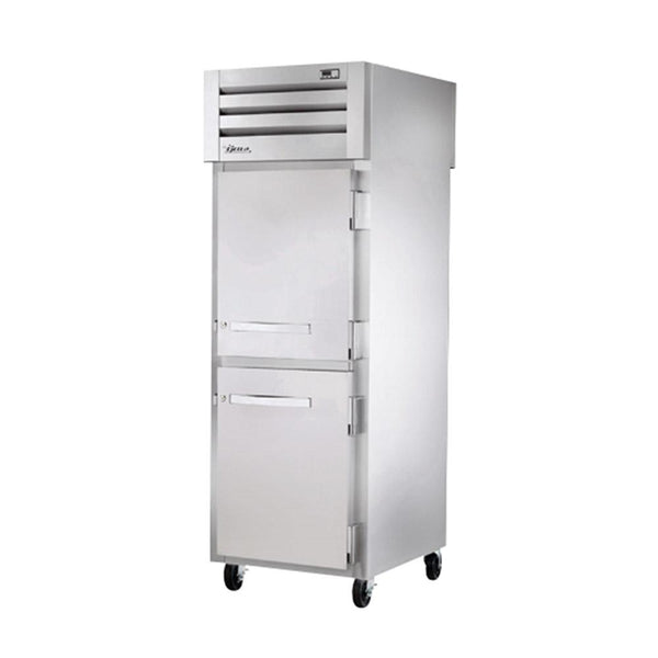 "True STG1FPT-2HS-2HS 27.5"" Pass-Thru Solid Half Front / Solid Half Rear Swing Door Freezer"