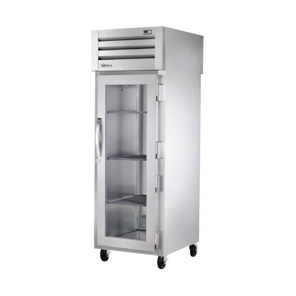 True STG1HPT-1G-1S Pass Thru Glass Front / Solid Rear Heating and Holding Cabinet - 1500W
