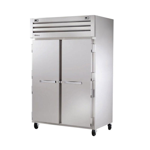 "True STG2DT-2S 52"" x 77"" Two Section Reach-In Solid Swing Door Dual Temperature Refrigerator / Freezer"