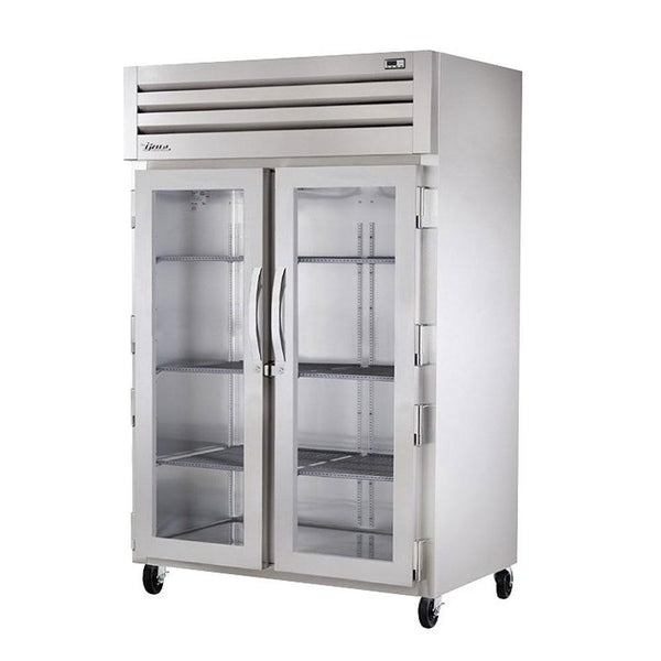 "True STG2H-2G 52"" Reach-In Glass Swing Door Heated Cabinet - 3000W"
