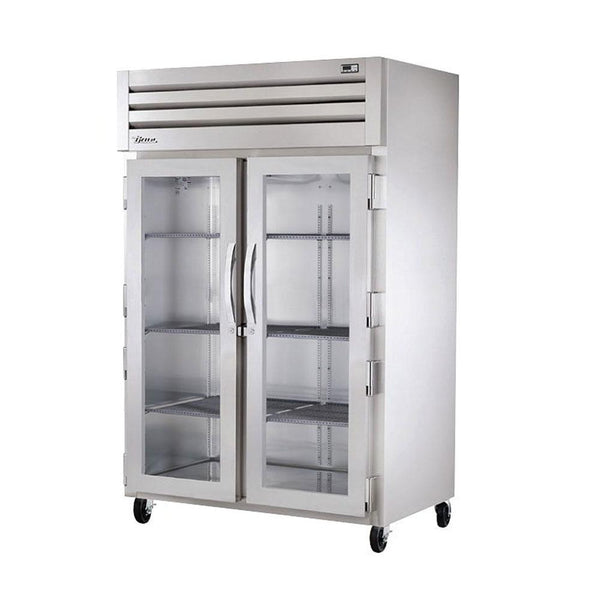 "True STG2R-2G-HC 52"" Reach-In Glass Swing Door Refrigerator"