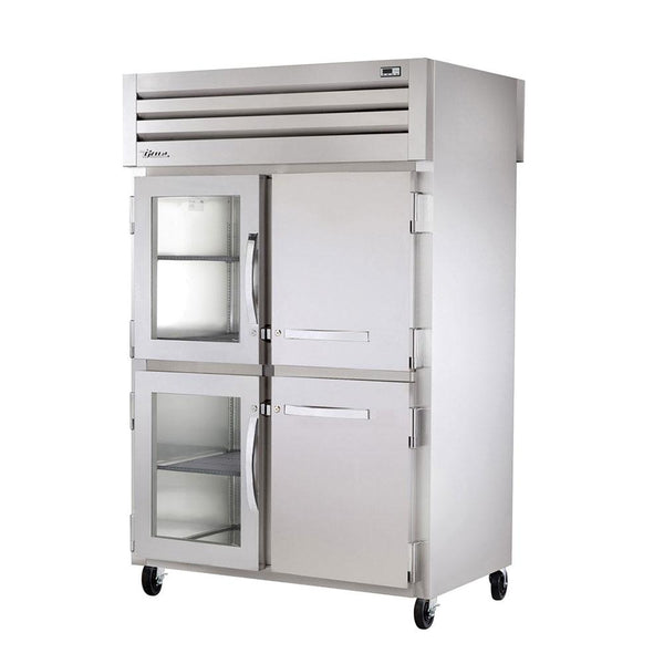 "True STG2RPT-2HG/2HS-2G-HC 52"" Pass-Thru Half Glass Front / Glass Rear Swing Door Refrigerator"