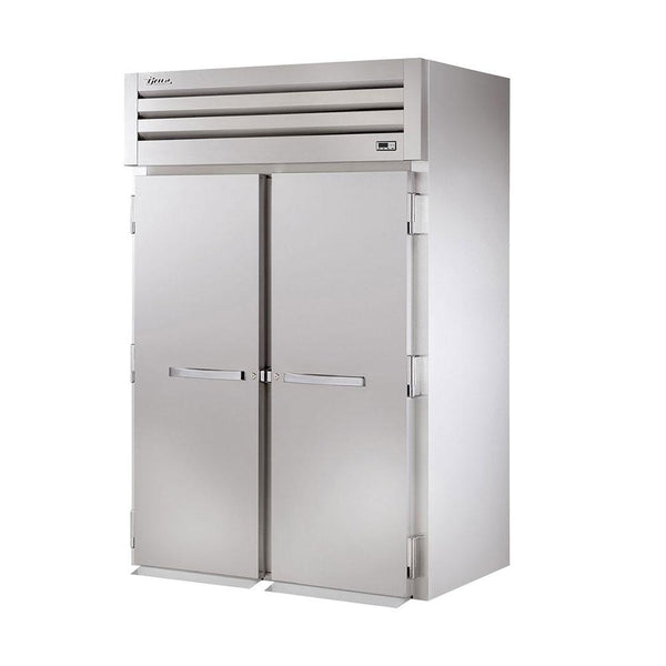 "True STG2RRI89-2S 68"" Roll-In Solid Swing Door Refrigerator"